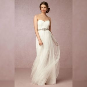 NEW Jenny Yoo Annabelle cream off white gown sz 8